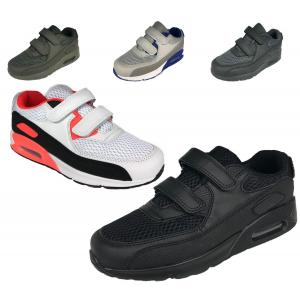 Boys Trainers High Top Velcro Boots Running Sports Footbal School Shoes
